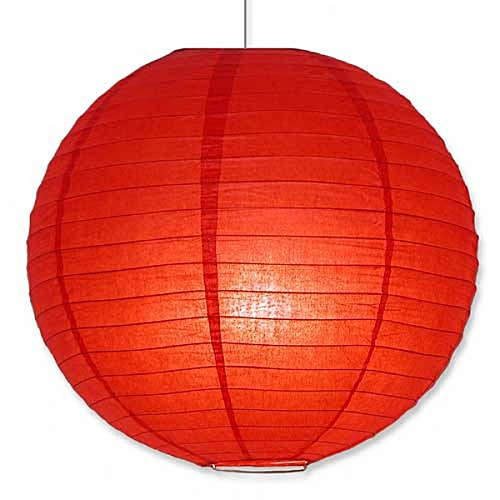 Kenya Lampshades Chinese Lanterns Ball Silk Fabric 14 Red