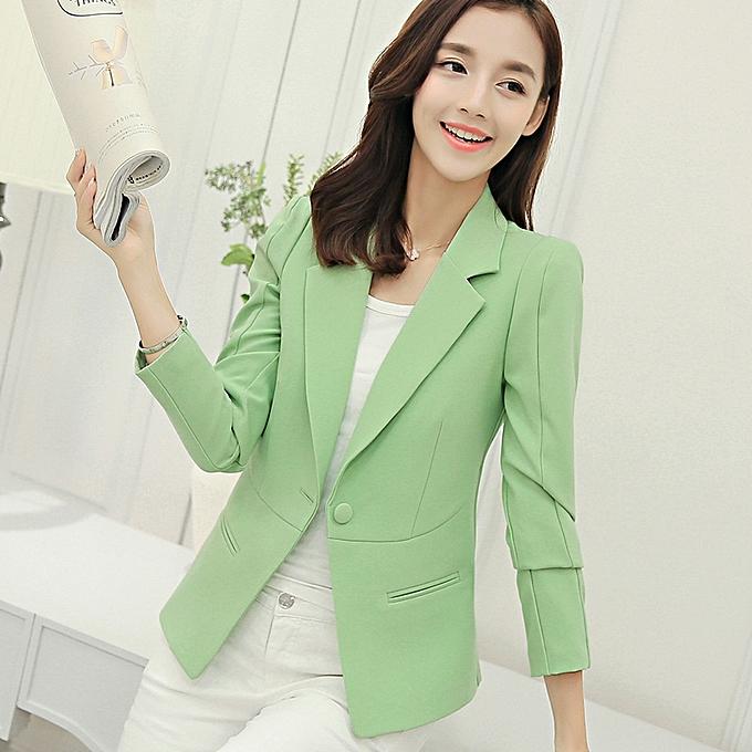 Buy Generic Women Ladies Office Work Pink Blazer Spring Autumn