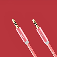 New 3.5mm Male to Male Car Aux Auxiliary Cord Stereo Audio Cable for Phone iPod-Rose Gold