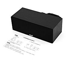 SADA V-190 Mini Wood Speaker Stereo Bass Dual Sound Channel Loudspeaker black wood