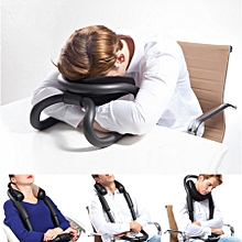 IdeaShow Black Neck Protecting U-shaped Pillow Airplane Car Office Nap Pillow Travel Pillow