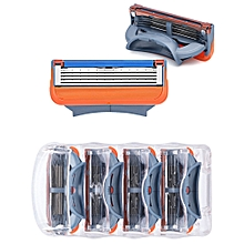GFLV men's Five level manual razor Beard Shaver 4 head mounted Safe