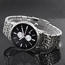 Fohting North Calendar Quartz Wrist Watch Stainless Steel Bracelet Men Watch -