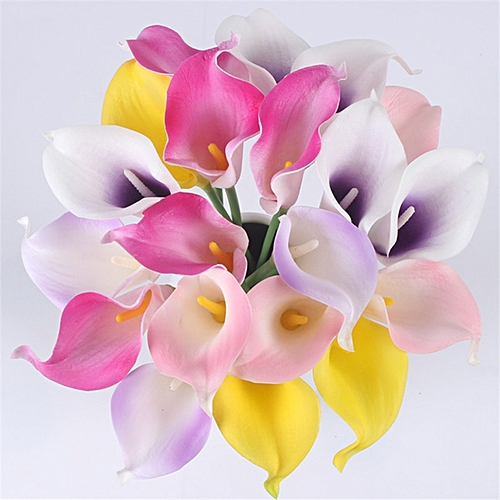 Generic Natural Real Touch Flower Bouquet Calla Lily Wedding Home