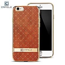 Business Style Hourglass Pattern Back Cover For IPhone 7 4.7 Inch - Brown