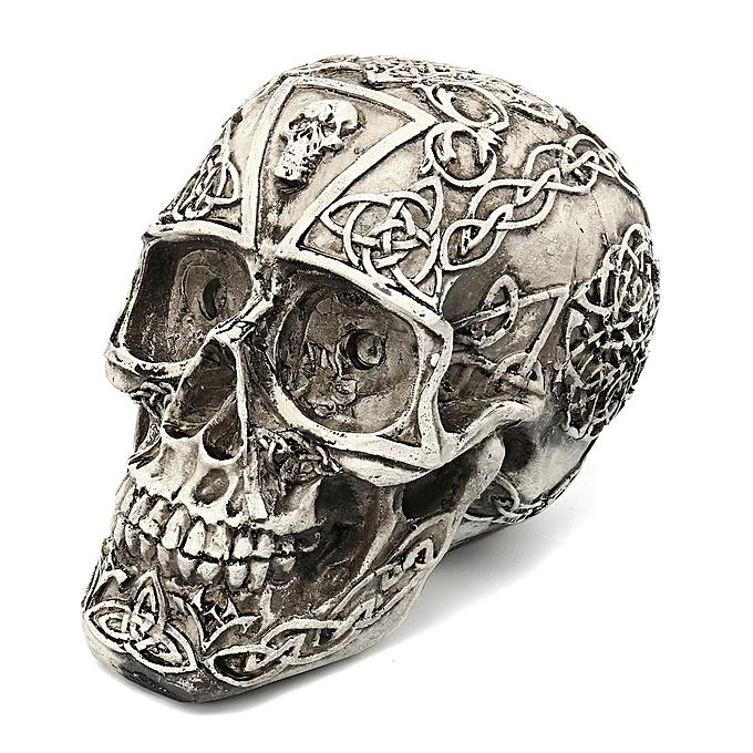 Buy Generic Resin Skull Statue Figurine Human Skeleton Head