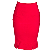 Red pleated official skirt