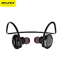 A845BL Bluetooth V4.1 Noise Reduction Neckband Earphones - Black