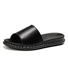 Women Slippers Lady Beach Sandals Shoes (Black)