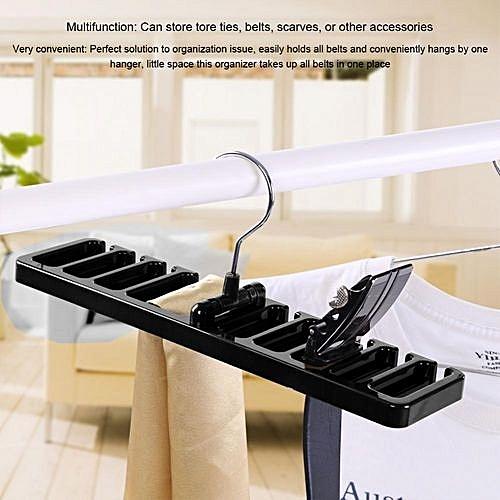 Generic 10 Slot Tie Belt Scarf Rack Organizer Sturdy Plastic Closet