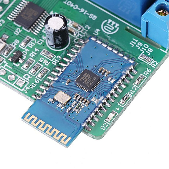 DC 12v 8 Channel Relay Module Wireless Bluetooth Control Switch For Android  Blue