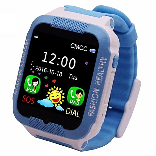 306a9fcc97cd68 Generic C3 Touch Screen Smart Watch Waterproof Band GPS+LBS Locator Tracker  SOS Call For IOS And Android (Blue) WANKAI