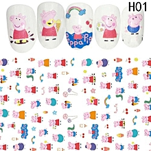 Fancyqube Nail Multicolor Water Transfer Sticker Nail Stickers Cartoon Animation Cat Animal Stickers Wraps Decoration Flower Fruit Nail Art