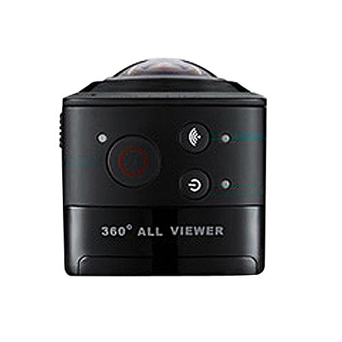 OKAA 360° WiFi Full Vison HD 1440P 30FPS Panoramic VR Sports DV Action Cam  Camera Black