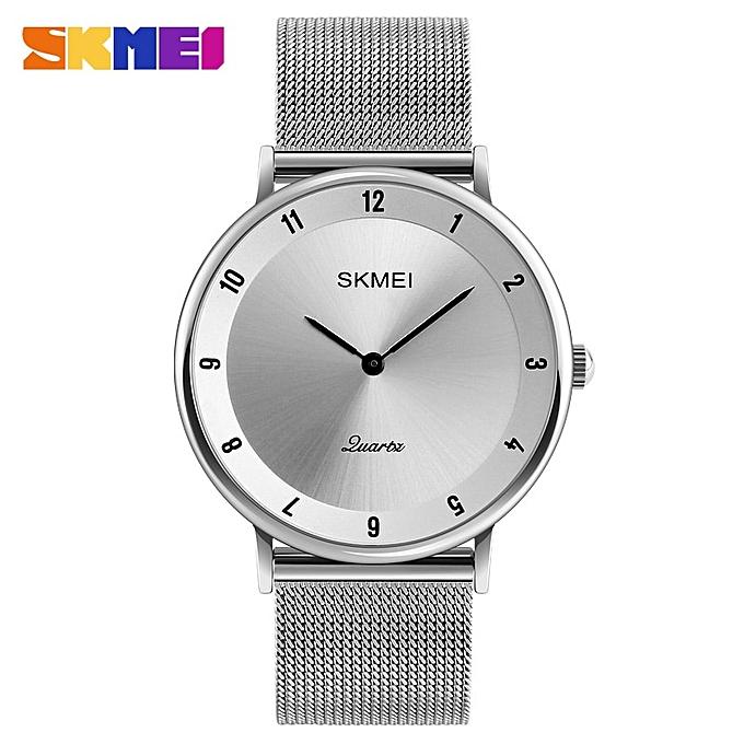 088c426de Luxury Watch Steel Slim Simple Style Ultra Thin Men Quartz Sport Watch  Waterproof Causal Watches Xcfs
