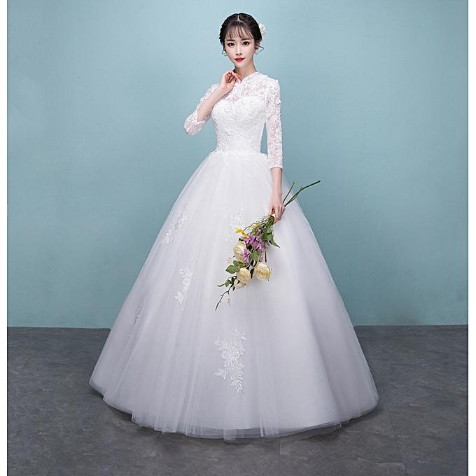 AFankara White Wedding Dresses