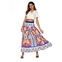 African Style Midi Dress Suits for Women Top + Dress (2 in 1)-Multi