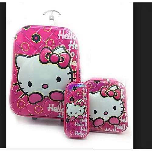 Hello Kitty Kids' Trolley Bag, Lunch Box & Pencil Case