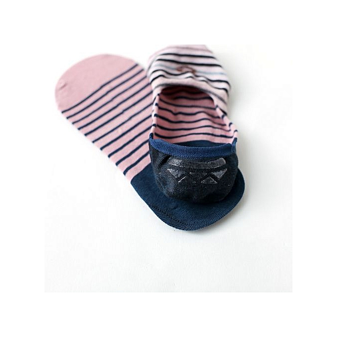 fd6131ad6 Meibaol Store 1Pairs Fashion Love Womens Comfortable Casual Stripe Cotton  Short Ankle Socks-Blue