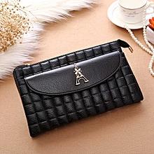 Women Lingge Eiffel Tower Zipper Coin Purse Wallet Card Holders Handbag BK