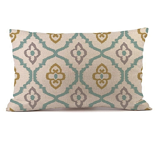 Africanmall store Rectangle Cushion Cover Silk Throw Pillow Case Pillowcase -AS shown