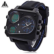 AK16119 Male Quartz Digital Military Watch Backlight Chronograph Calendar Alarm 5ATM Wristwatch-Blue-Blue