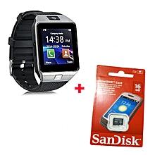 DZ09  Smart Watch Plus Free 16gb Memorycard -Silver Black