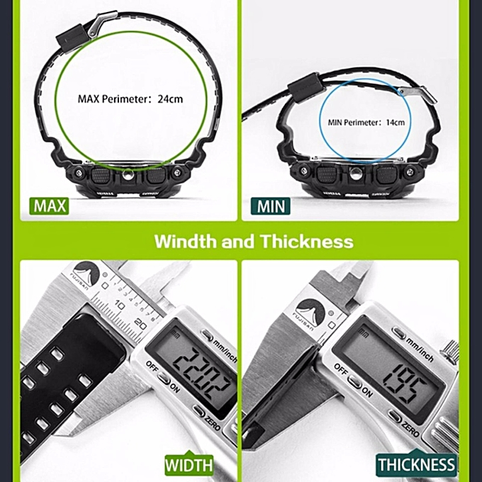 a48dd535e23f0 ... SANDA 799 G Style Military Waterproof Outdoor Sports Men s Shockproof  Digital Watch (White Gold) ...