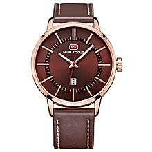 Fashion  Leather Men Watches Quartz 3ATM Water-resistant Luminous Casual Man Wristwatch Rologio Masculino Calendar