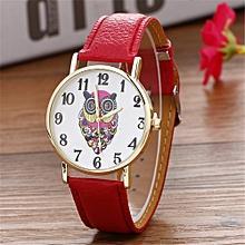 Women Creative Pattern Quartz Watch Leather Strap Belt Table Watch RD