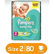 BABY DIAPERS.JUMBO PACK,  SIZE 2(3-8kgs) 80 PIECES