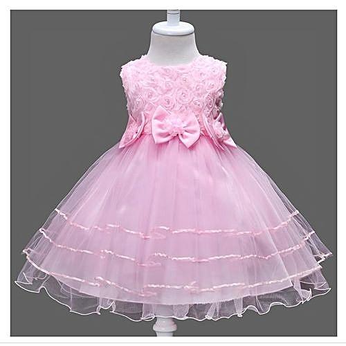 f9a92e0611e4a New Style Girls' Dress Small Flower Girl Dress Skirt Butterfly Knot Flower  Princess Skirt
