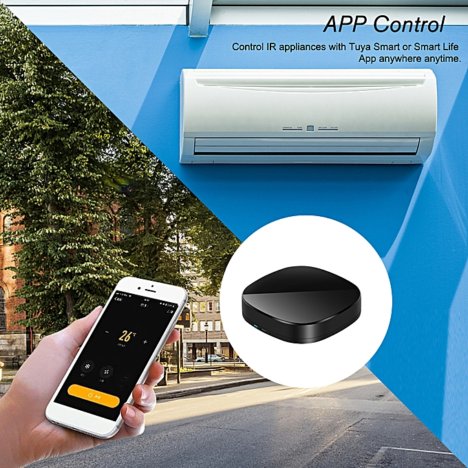 WiFi-IR Remote IR Control Hub Wi-Fi(2 4Ghz) Enabled Infrared Universal  Remote Controller For Air Conditioner TV Using Tuya Smart Life APP  Compatible