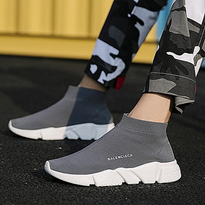 c66559e6f932 Fashion Hot ! Men's Fashion Plus Size Sneakers Casual Sport Running Sock  Shoes Breathable Mesh Fabric