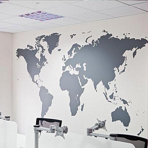 World Map Removable Wall Sticker.Skywolfeye World Map Removable Vinyl Wall Sticker Wallpaper Home