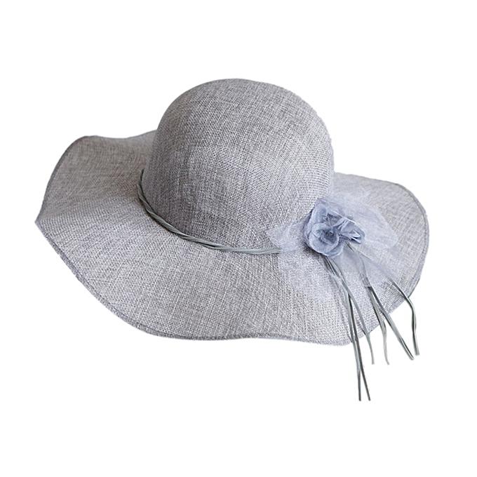 357fea45ef8caf New Floral Summer Straw Hat Women Beach Sun Hats Wide Brim Floppy Cap  Fashion Quick Dry