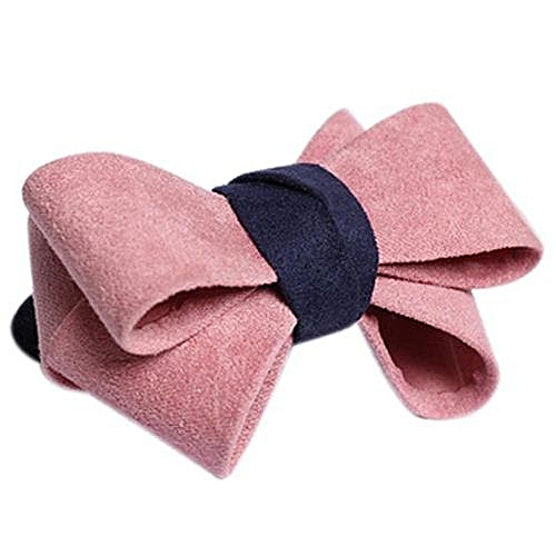 Fashion Zetenis 1PC New Pretty Bow Hair Ring Double Rope Elastic Hair Tie  Ponytail Holder E -E aa9e2f0b142