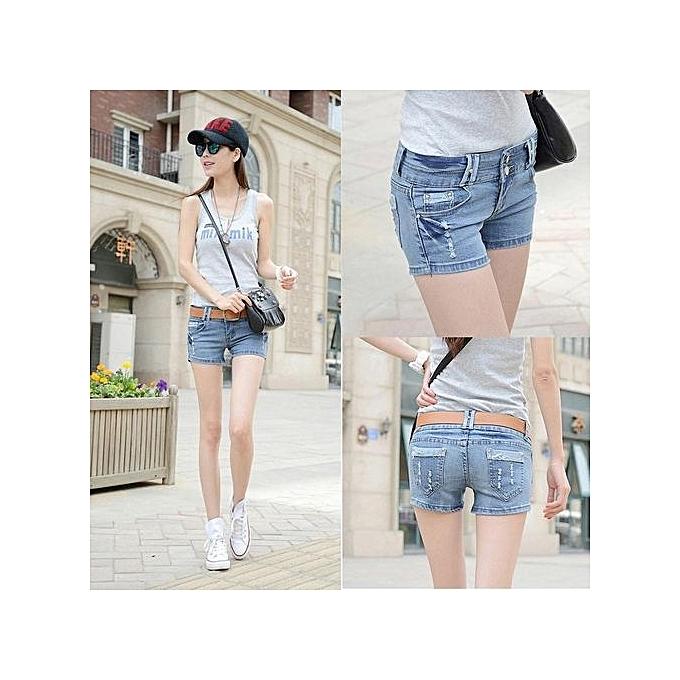 8e70ae008d Slim Hot Pants Girls Short Jeans Summer Short Pants Denim Shorts Casual  Beach Slim Trouser (