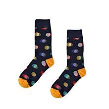New Fashion Man Dot Print Color Block Cotton Sock Colorful Casual Sock