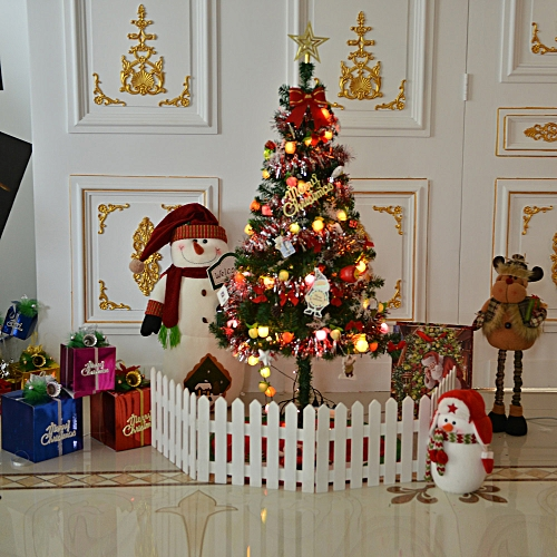 artificial christmas tree led multicolor lights holiday window decorations set