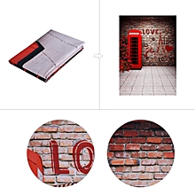 Andoer 1.5 * 2.1m/5 * 7ft Photography Background Love Telephone Booth Brick Wall Backdrop Photo Studio Props