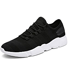 Mens Breathable Running Shoes Daily Casual Shoes-Black