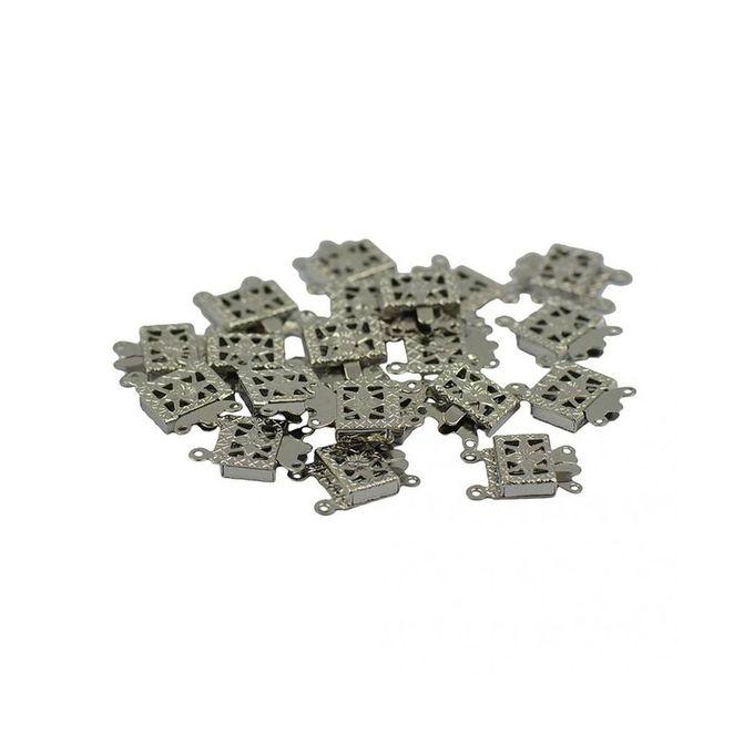 Magideal 20Pcs Filigree 2 Strand Box Clasp Necklace DIY ...
