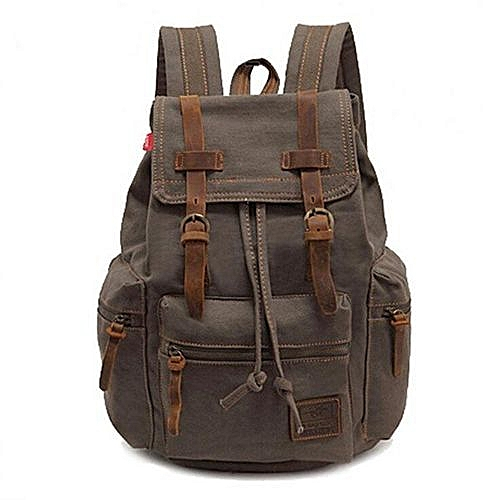 5e41a2eab5 Augur AUGUR New Fashion Men's Backpack Vintage Canvas Backpack School Bag  Men's Travel Bags Large Capacity Travel Backpack Camping Bag(Army Green)
