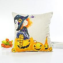Happy Halloween Pillow Cases Linen Sofa Cushion Cover Home Decor B