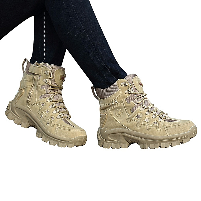 882bdbe7e4 Sport Men Tactical Boots Desert Outdoor Hiking Leather Boots Combat Shoes
