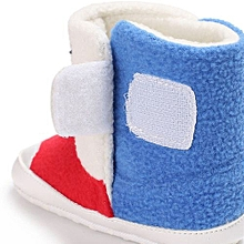 bluerdream-Baby Girl Boys Soft Sole Booties Snow Boots Infant Toddler Newborn Warming Shoes-Red