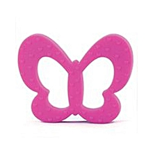 Butterfly-Shaped Baby Teether - Pink