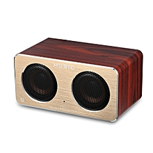 W2 Bluetooth Speaker Portable Wooden Wireless Player  - Wood Color