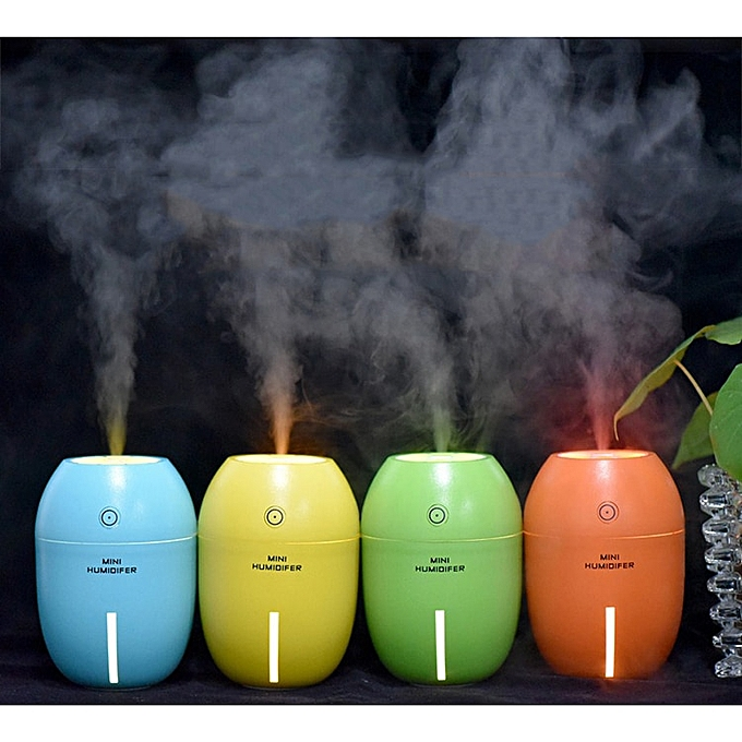 USB Humidifier Air Purifier with 7 Color LED Light 150ML Ultrasonic  Aromatherapy Mist Maker Fogger for Home Car Aroma Diffuser WOEDF